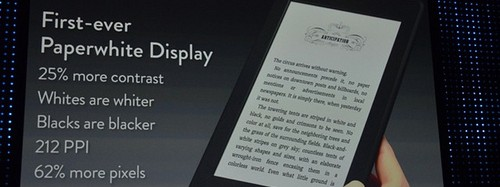 Amazon presenta Kindle Paperwhite y Kindle Fire HD